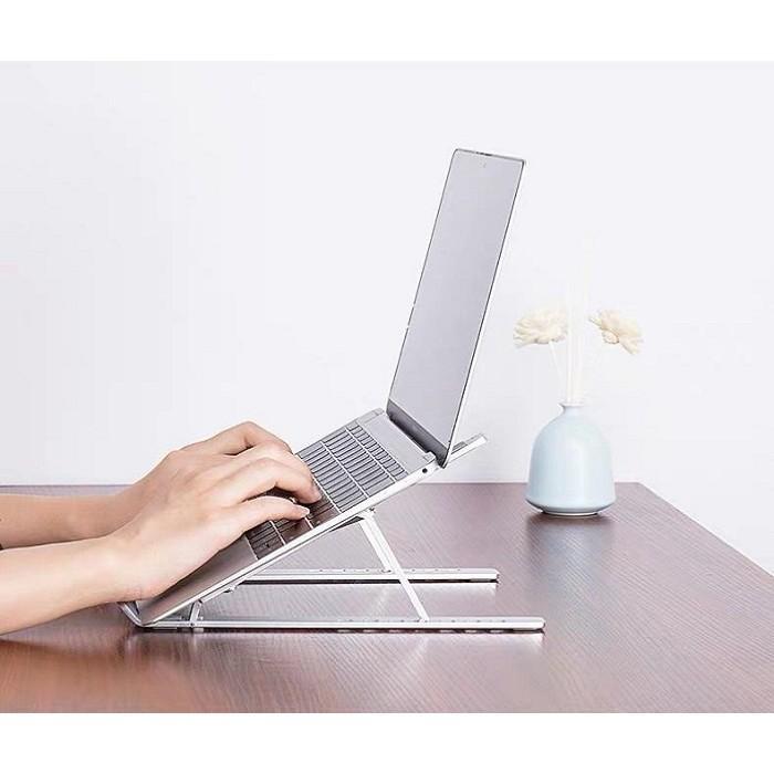 Giá đỡ laptop macbook, đế tản nhiệt laptop để bàn gấp gọn dễ dàng điều chỉnh độ cao hỗ trợ tản nhiệt