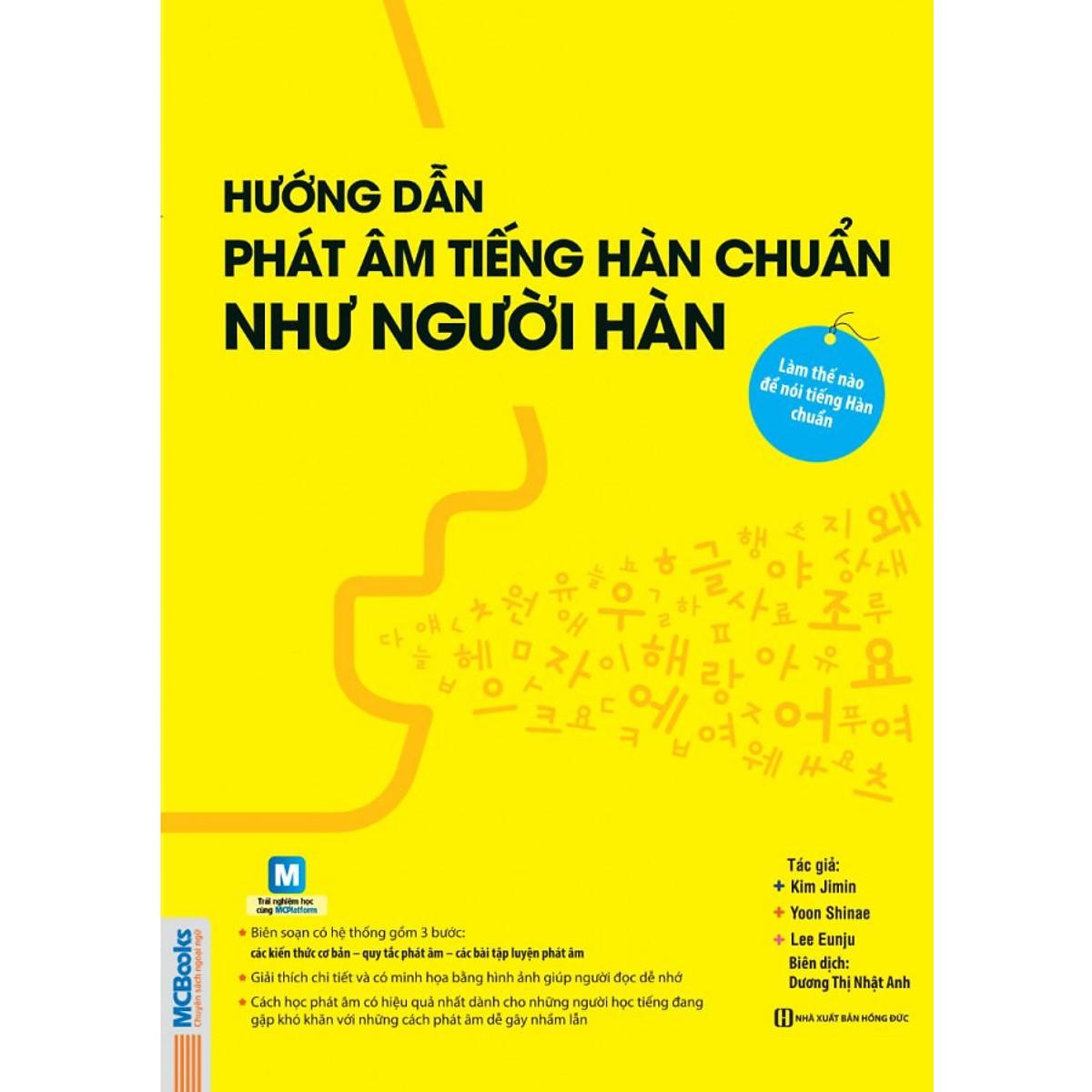 Hướng Dẫn Phát Âm Tiếng Hàn Chuẩn Như Người Hàn Quốc