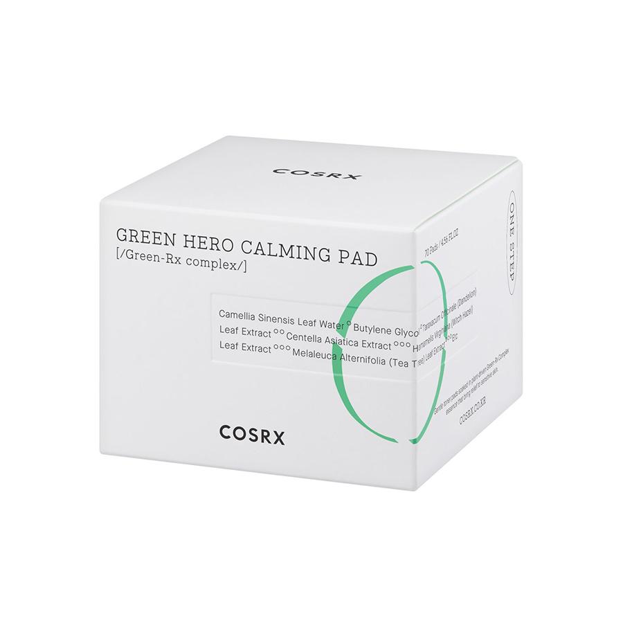 Bông Tẩy Tế Bào Chết Hoá Học Dưỡng Ẩm Và Dịu Da COSRX One Step Green Hero Calming Pad 70 miếng