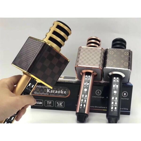 Micro karaoke bluetooth SD18 kết nối không dây sang trọng