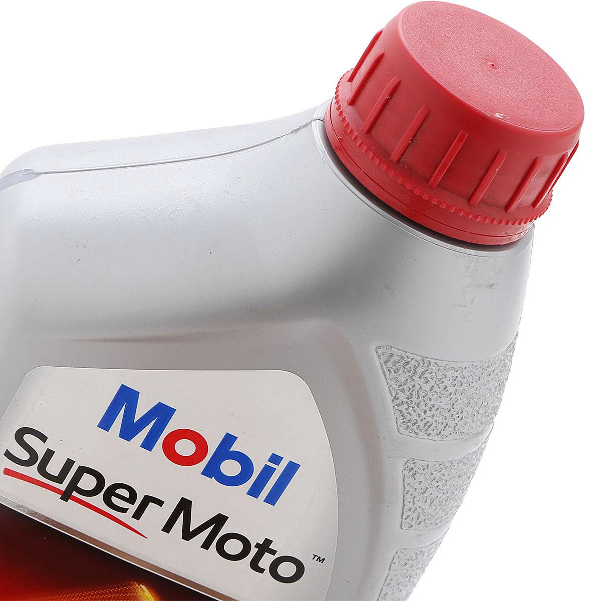 Nhớt Xe Số 4T Mobil Super Moto 20W-50  Tiêu Chuẩn JASO MA2 API SL (1L)  - Hàng Chính Hãng