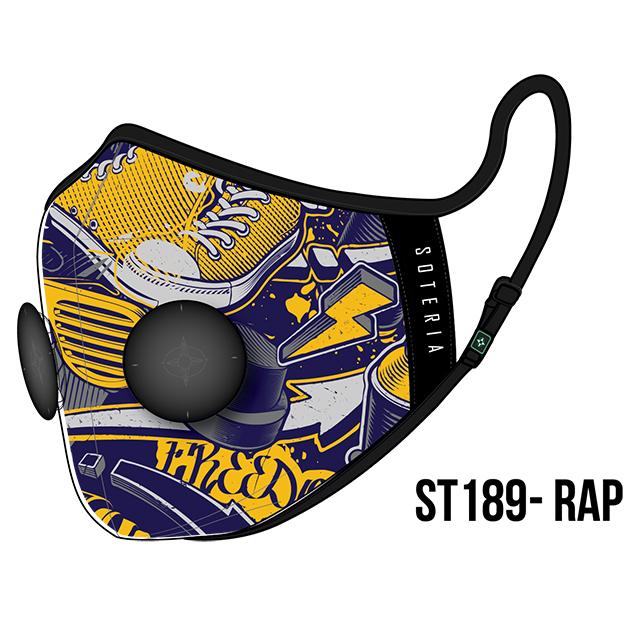 Khẩu trang thời trang cao cấp Soteria Rap ST189 - Khẩu trang vải than hoạt tính [size S,M,L]