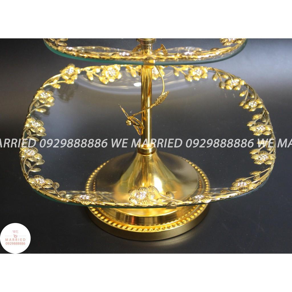 Khay Bánh Hoa 2 Tầng - MJC023