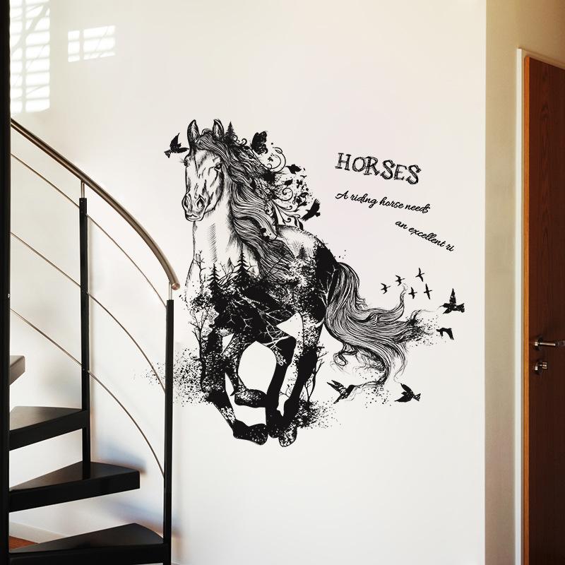 Decal dán tường Horse XL8346