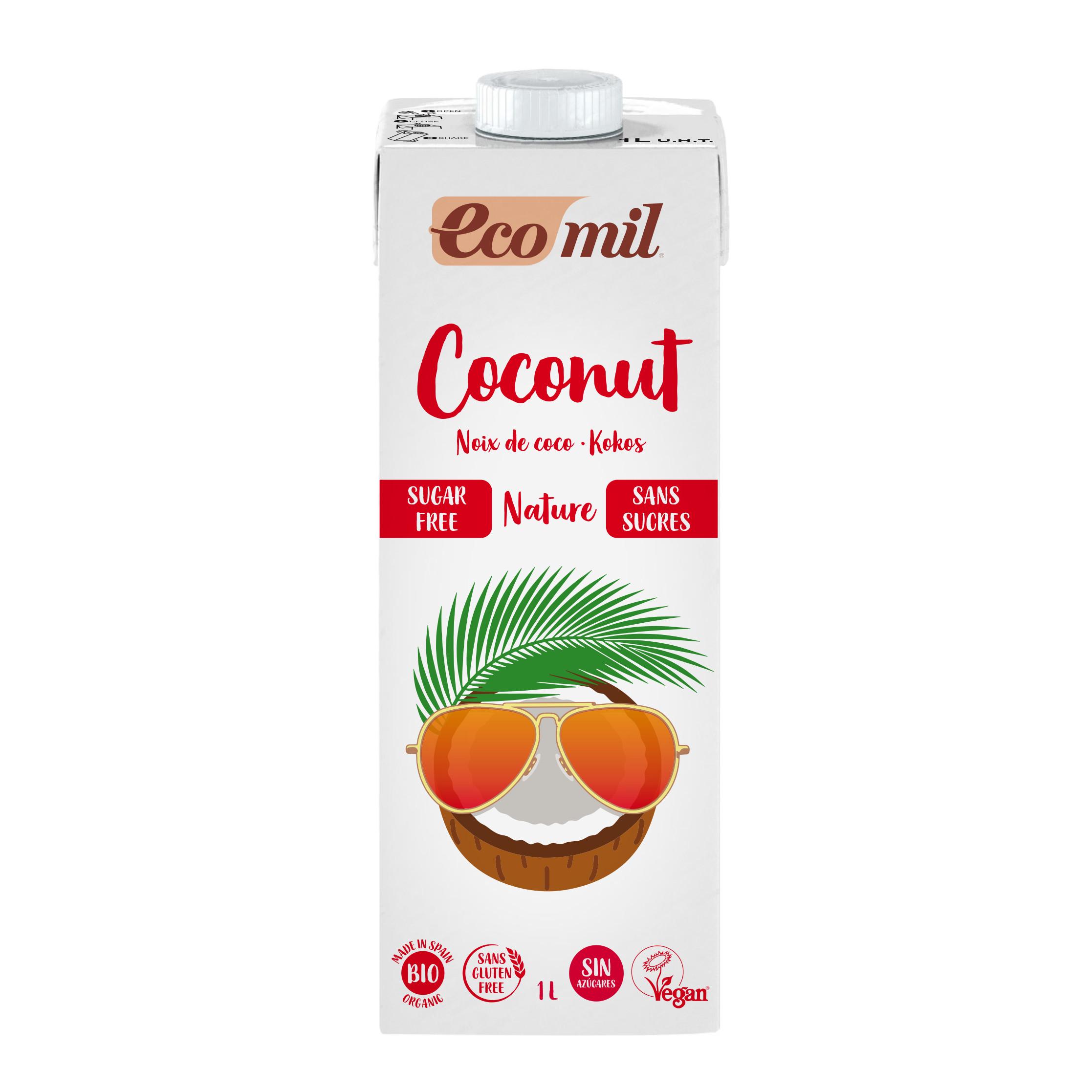 Sữa Dừa Không Đường Hữu Cơ Ecomil 1L - Organic Coconut Milk Sugar-free