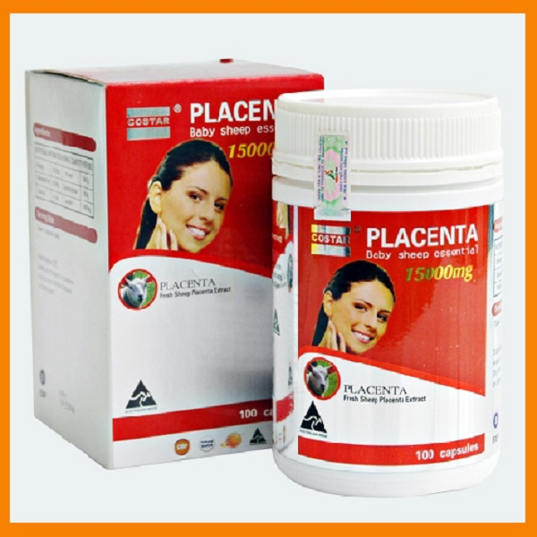 Viên Uống Nhau Thai Cừu Costar Placenta Baby Sheep Essential 15000Mg