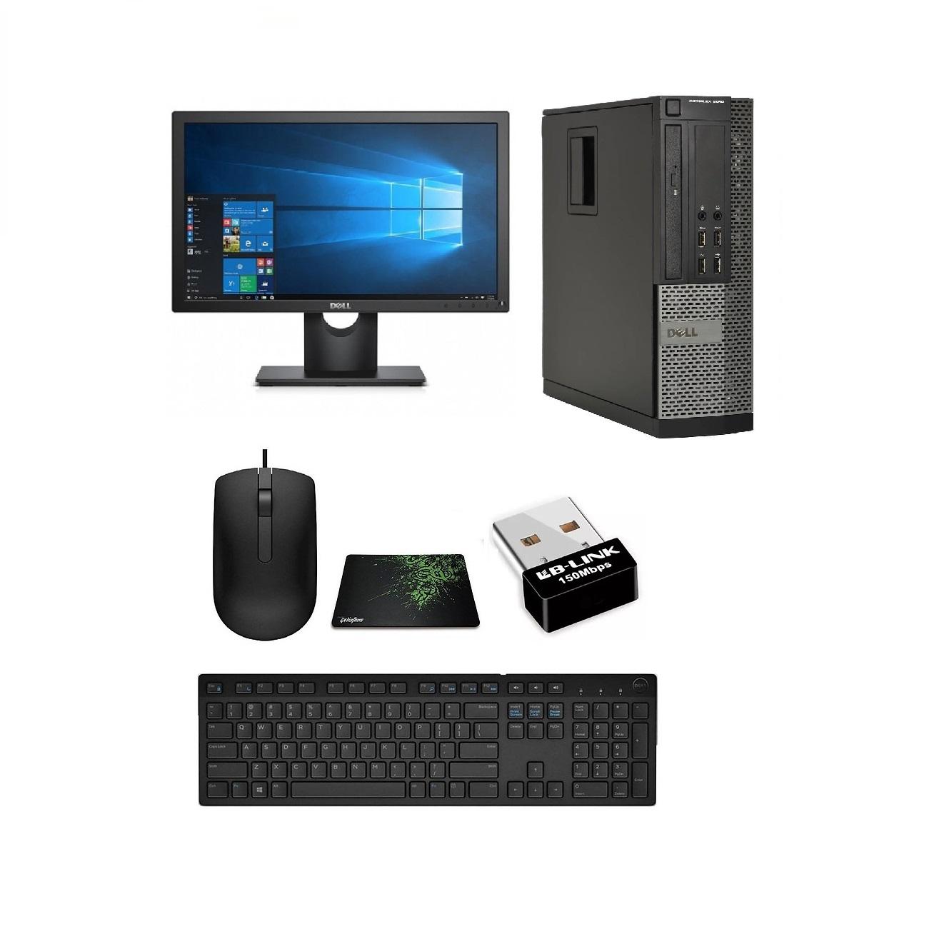 Bộ Máy Tính Để Bàn Dell Optiplex ( Core i5-3470 / 8gb / SSD 240GB - Card MH Quadro 600 ) Và Màn Hình Dell 21.5 inch - Tặng Ngay Bàn Phím Chuột + Lót Chuột + USB Wiif.- Chuyên Dùng cho Đồ Họa - Gaming - Văn Phòng cấu hình cao  - Hàng Nhập Khẩu