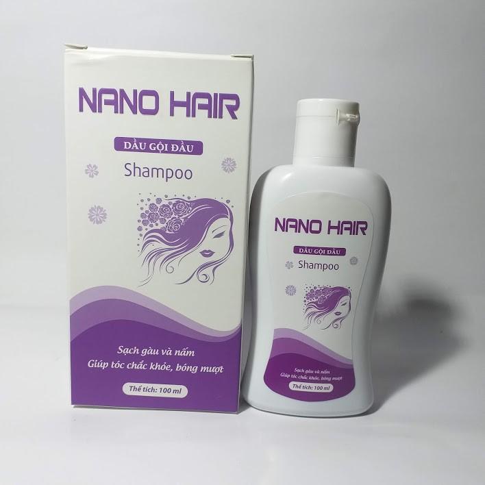 Dầu gội trị gàu, ngứa da đầu và viêm da đầu, giảm triệu chứng bong vảy và ngứa da đầu tiết bã, gàu và lang ben DẦU GỘI NANO HAIR chứa 100% thảo dược  - Chai 100ML