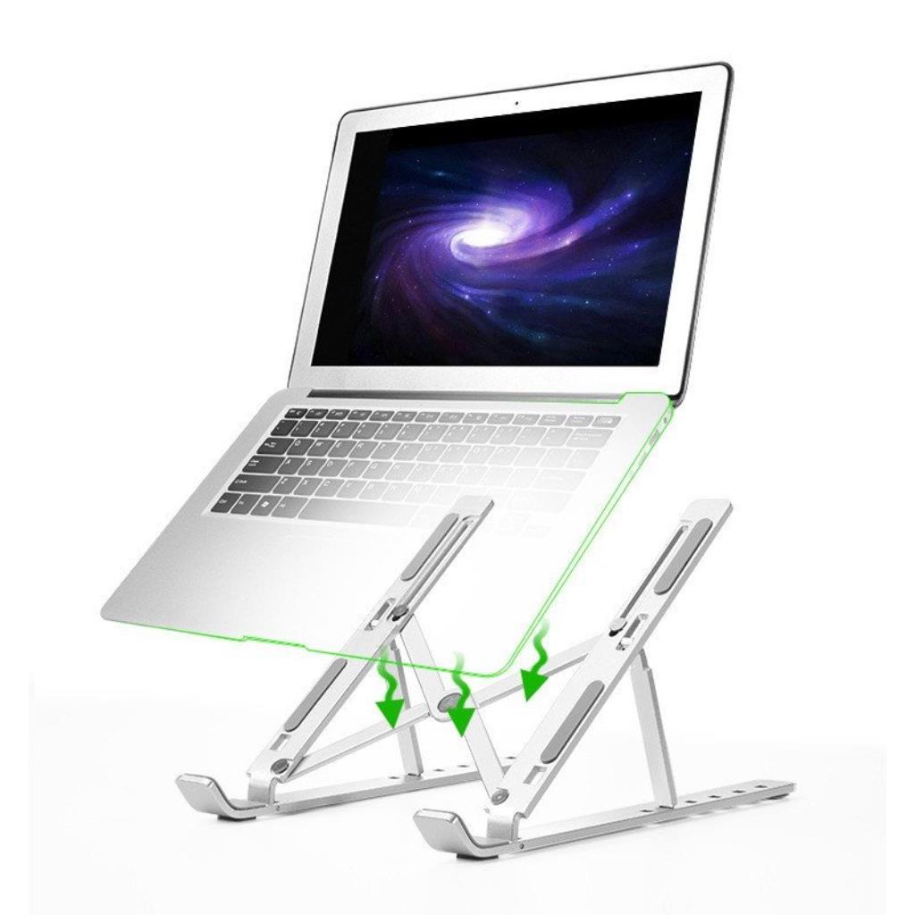VINETTEAM Giá Đỡ Laptop  Gấp Gọn - Dùng Cho Máy Từ 11~17 inch - Có Thể Điều Chỉnh Nhiều Mức Độ Cao - Hàng Chính Hãng