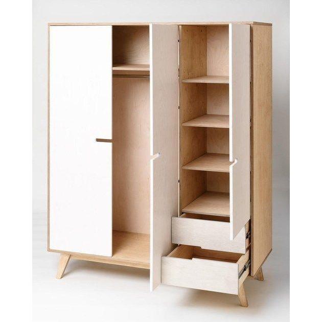 Tủ gỗ chứa quần áo nhiều ngăn chất lượng cao