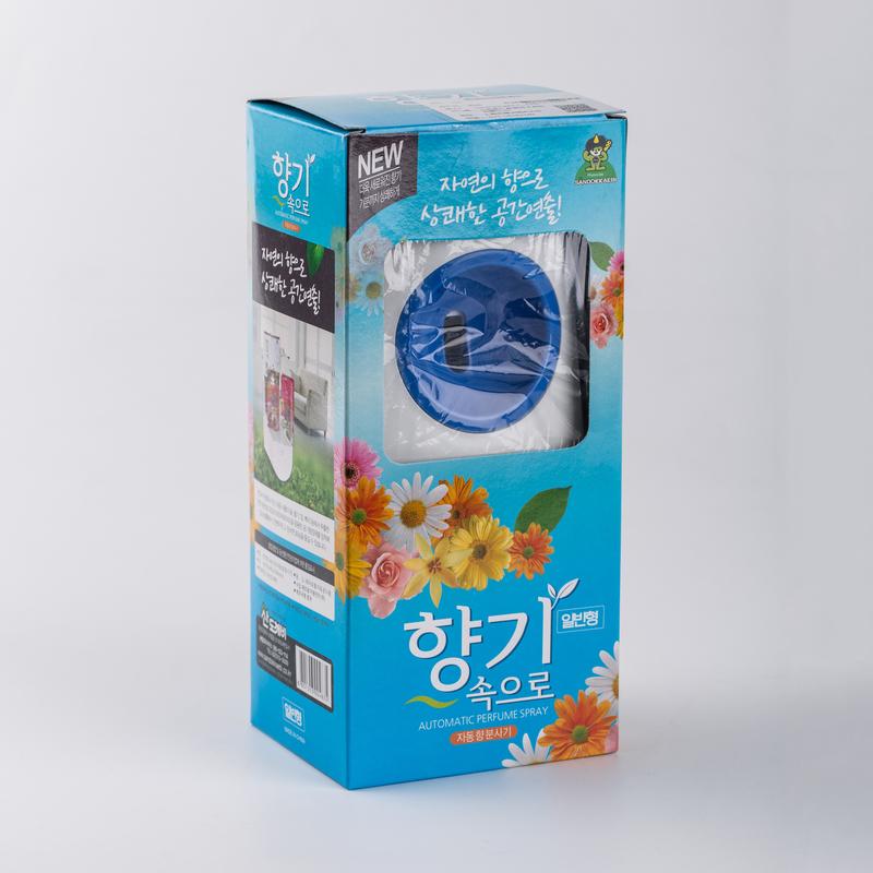 Bộ máy xịt phòng tự động kèm chai xịt phòng cao cấp Sandokkaebi Hàn Quốc 300ml (Màu máy xịt và mùi hương ngẫu nhiên)