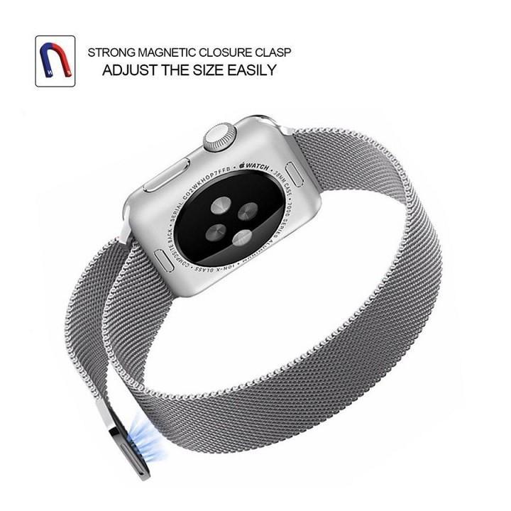 Dây đồng hồ lưới thép không rỉ cho apple watch