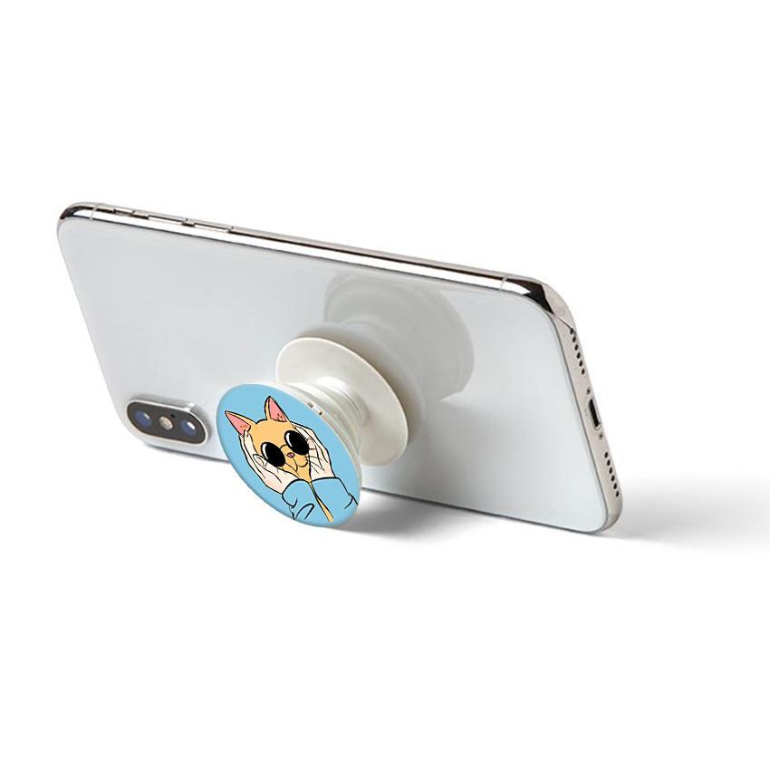 Gía đỡ điện thoại đa năng, tiện lợi - Popsocket - In hình CAT14 - Hàng Chính Hãng