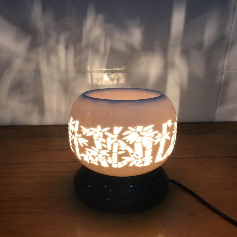 Đèn xông tinh dầu điêu khắc cây tre Lasante DDK-02