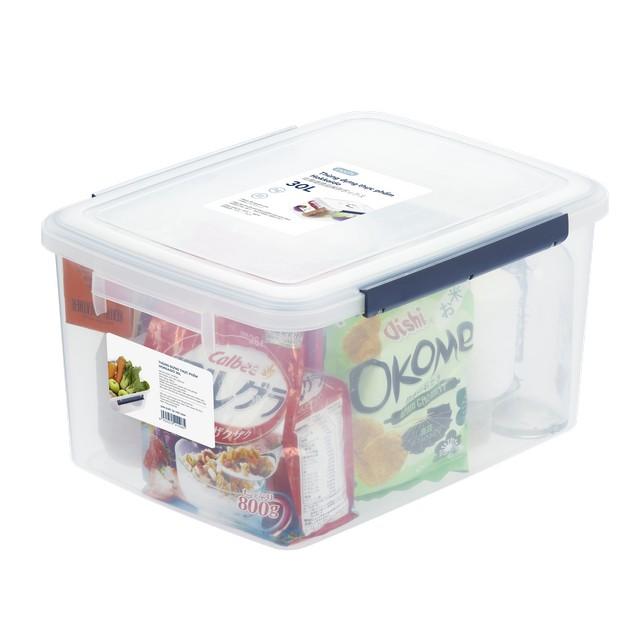 Thùng Đựng Thực Phẩm, Thức Ăn Bằng Nhựa Cao Cấp Hokkaido Inochi Nhật Bản - 10, 18, 30 Lít - Đạt tiêu chuẩn khắt khe y tế Nhật Bản