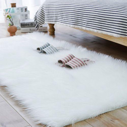 Thảm lông chụp hình - thảm trắng lông xù cao cấp