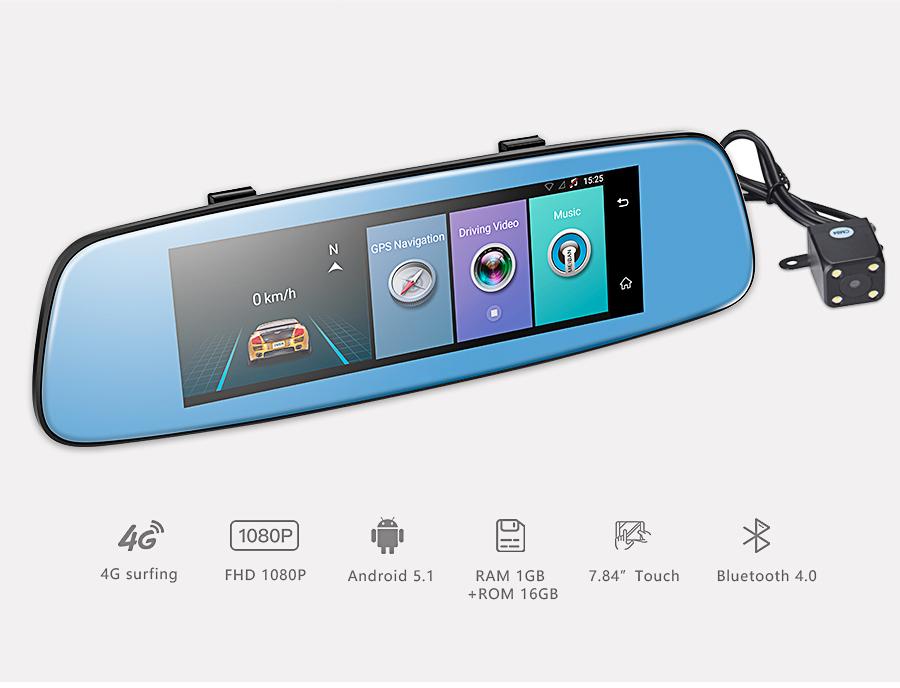 Camera hành trình gương E06 Android 5.1 4G có tiếng việt +XE ĐỊA HÌNH ĐIỀU KHIỂN TỪ XA 1:22