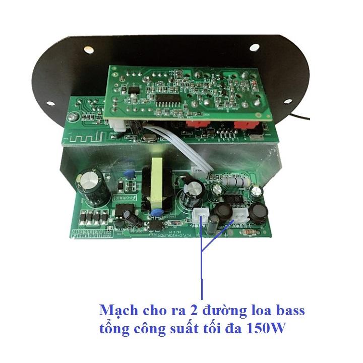 Mạch Loa Kéo Tích Hợp USB-TF Lossless, Bluetooth, Micro Karaoke 150W