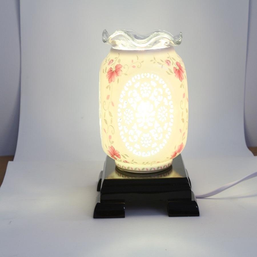 Đèn xông tinh dầu sứ chữ phúc Lasante DXS-03