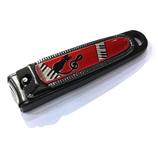 Bộ cắt móng họa tiết nốt nhạc màu đỏ - đen cao cấp Japan