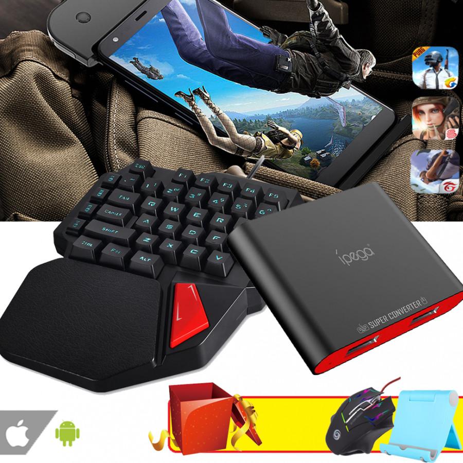 Bộ Bàn Phím Giả Cơ K108 + Thiết Bị Bluetooth IPEGA PG-9116 Kèm Quà Tặng Hấp Dẫn - Hàng Nhập Khẩu