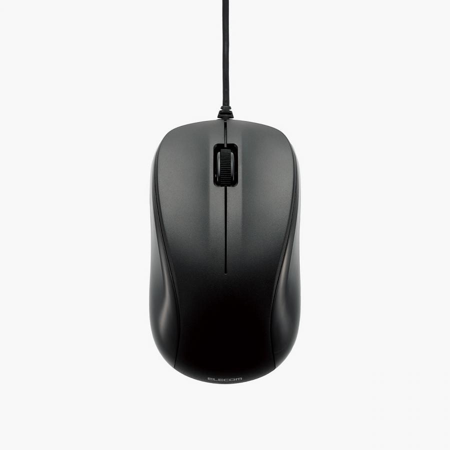Chuột Có Dây Elecom M-K6URBK/RS (Đen) - Hàng chính hãng
