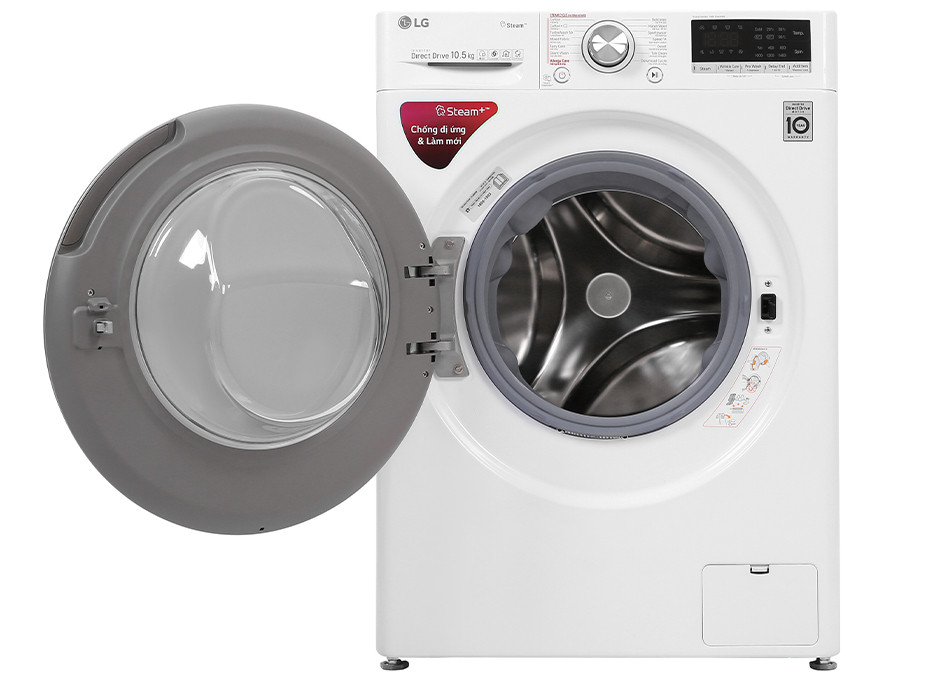 Máy giặt cửa trước LG Inverter 10.5kg FV1450S3W - Hàng chính hãng (chỉ giao HCM)