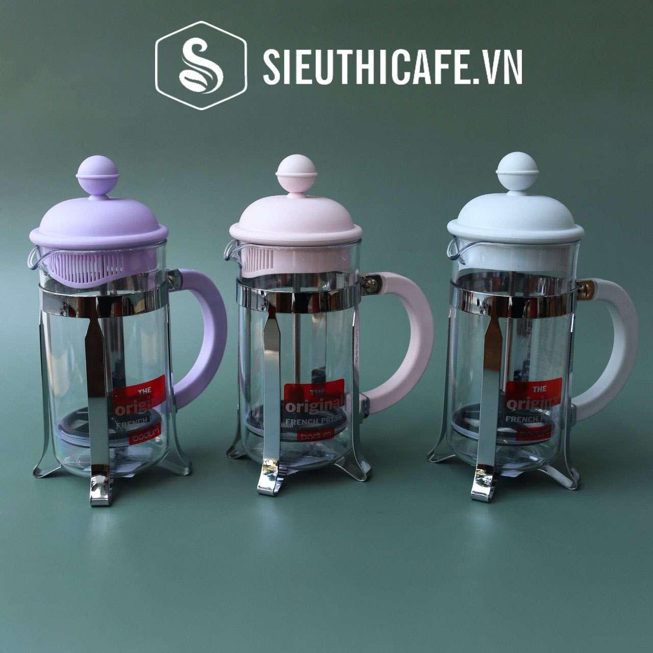 BÌNH PHA CÀ PHÊ KIỂU PHÁP BODUM CAFFETTIERA FRENCH PRESS – MÀU SHADOW – 3 CUPS