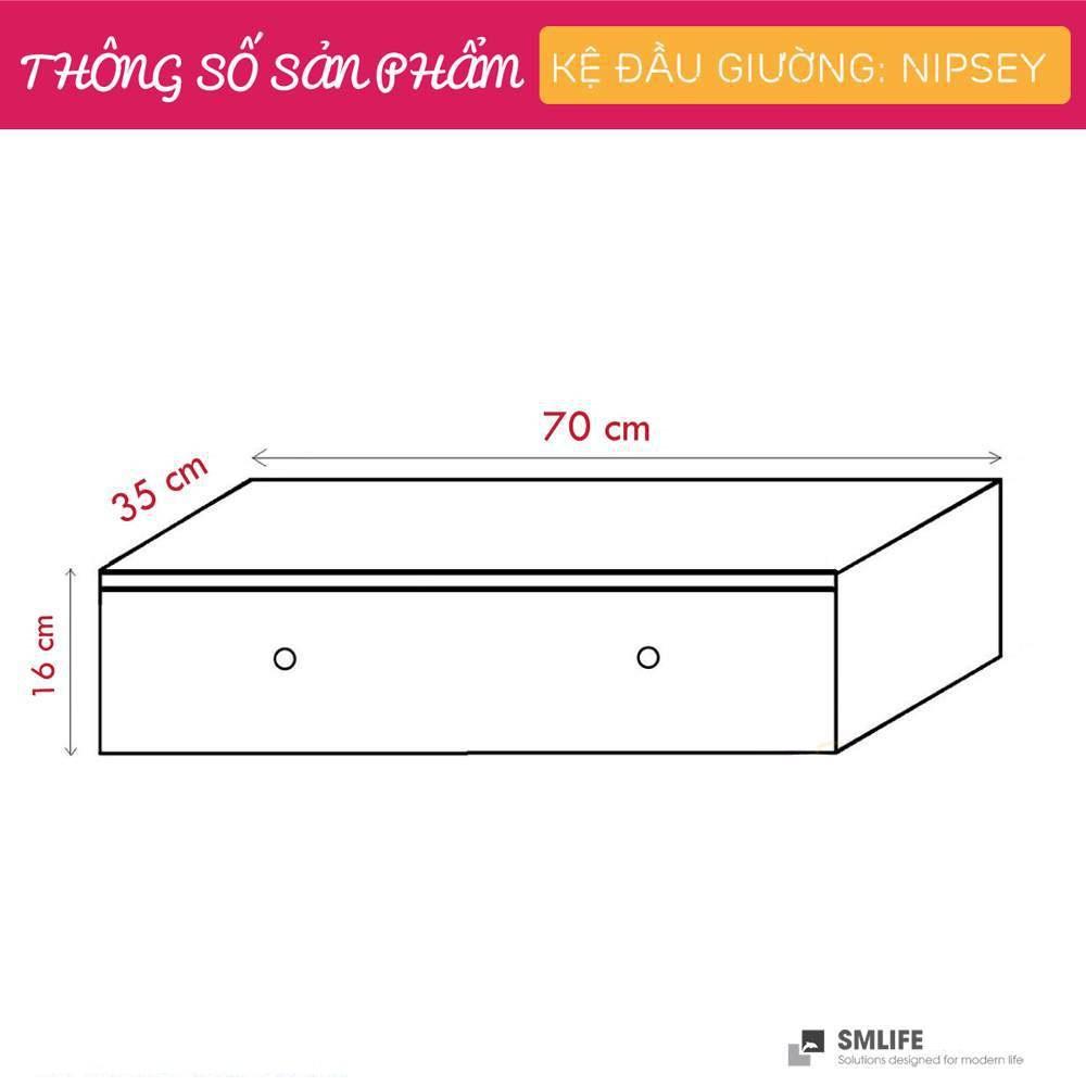 Tủ gỗ đầu giường hiện đại SMLIFE Nipsey