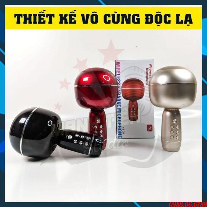 Míc Karaoke Cao Cấp YS09FREE SHIPÂm Vang, ẤM, Pin Trâu, Mic Hát karaoke mini Cầm Tay Siêu tiện Lợi