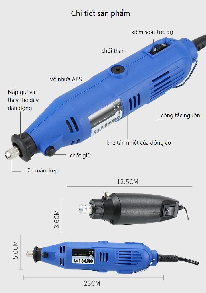 Bộ máy khoan, mài, cắt mini đa năng 350PCS ( gia công đa năng2 trong 1 )