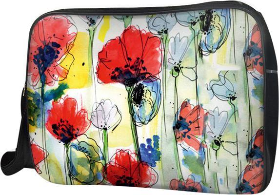 Túi Đeo Chéo Hộp Unisex Hoa Vẽ Đỏ Trắng - TCHT162 34 x 9 x 25 cm