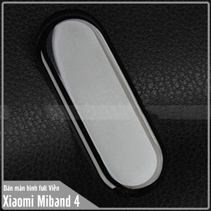Miếng dán màn hình cho Xiaomi Miband 4 Full Viền Đen