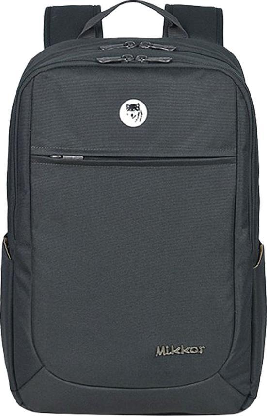 """Balo Laptop Mikkor The Edwin TEB003 - Xám đen (15.6"""" - Mac 17"""")"""