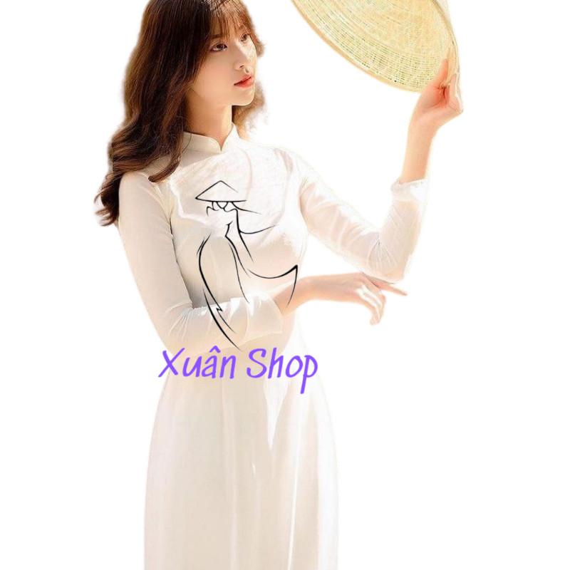 Áo dài trắng học sinh 4 tà chiffon / áo dài nữ sinh / áo dài truyền thống