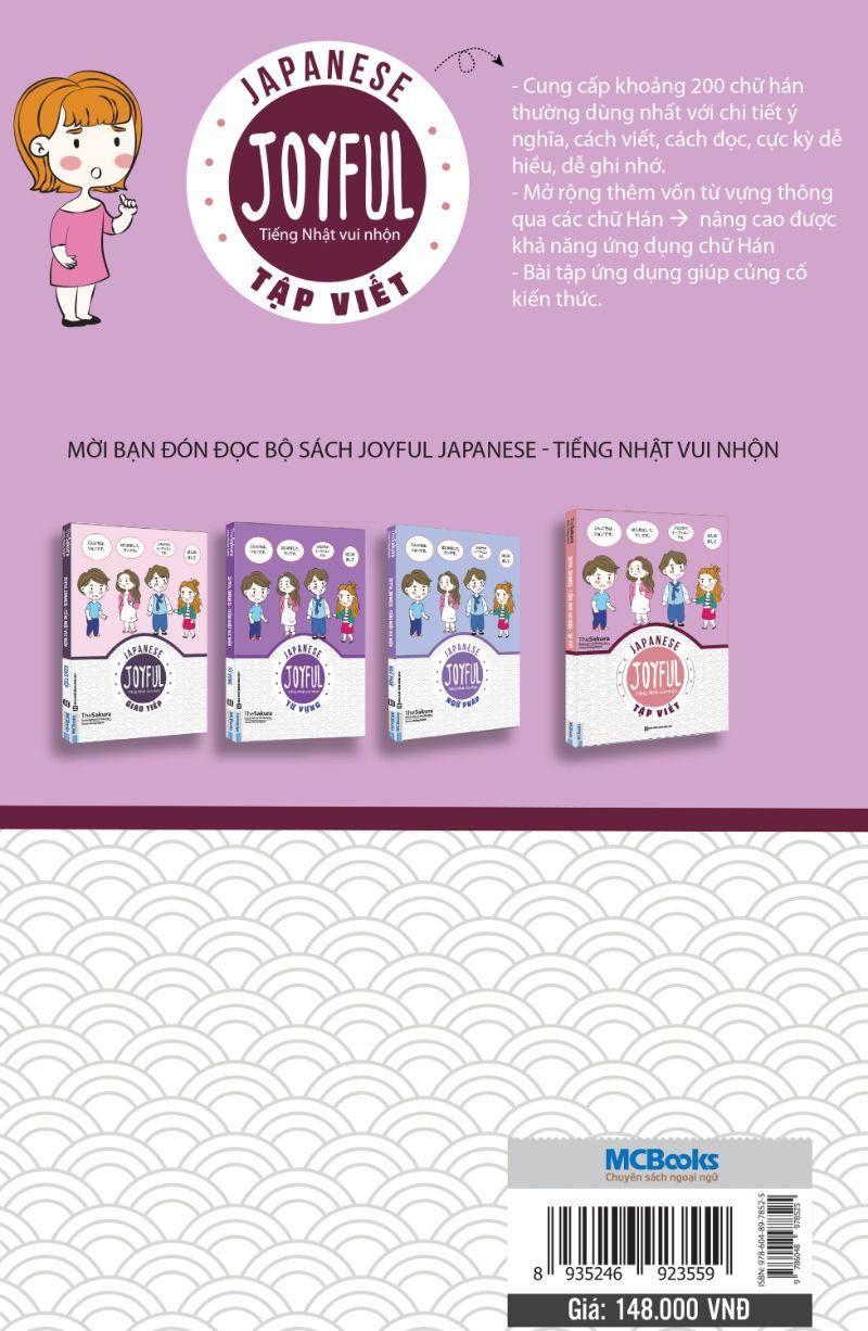 Joyful Japanese - Tiếng Nhật Vui Nhộn - Tập Viết (Tặng Thẻ Flashcard Học Từ Vựng Kanji) (Học Kèm App: MCBooks Application)