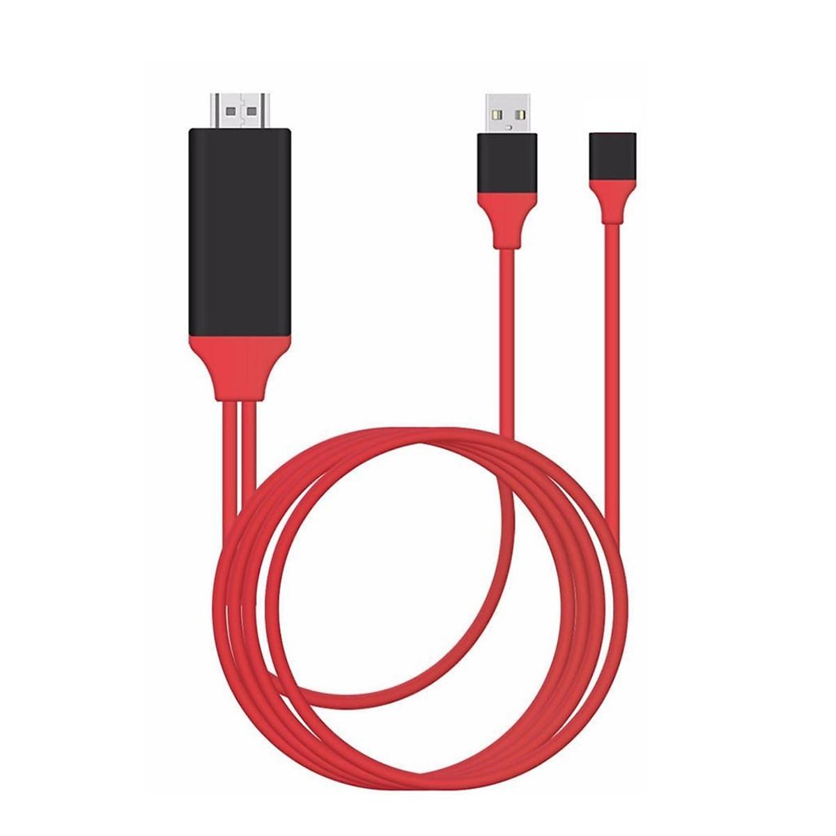Cáp HDMI kết nối điện thoại có MHL ra Tivi đa năng hỗ trợ cho cả lightning/micro/typeC qua cổng OTG ( giao màu ngẫu nhiên )