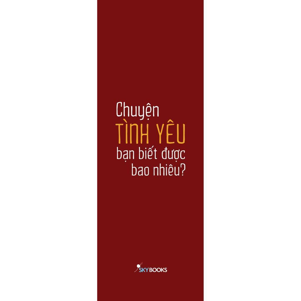 Sách - Men Chase Women Choose - Chuyện Tình Yêu Bạn Biết Được Bao Nhiêu? ( tặng kèm bookmark Thiết kế )