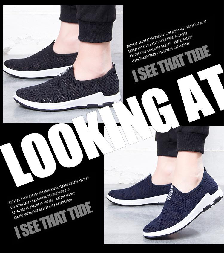 Giày Thể Thao Nam Lưới Thoáng Khí Phong Cách Hàn Quốc