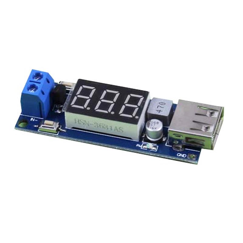Mạch hạ áp Buck 4.55-40V Xuống 5V 2A Cổng USB Sạc Điện Thoại