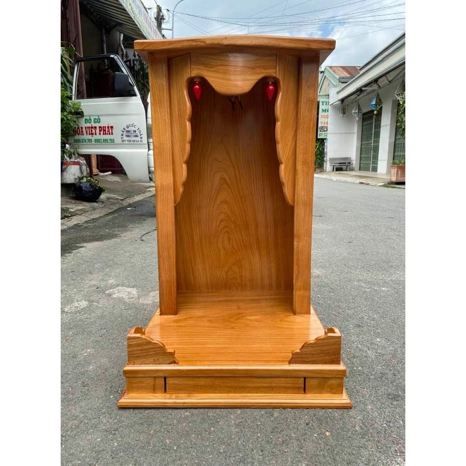 Bàn thờ thần tài ông địa gỗ gõ đỏ 48 x 81CM BTG4881T