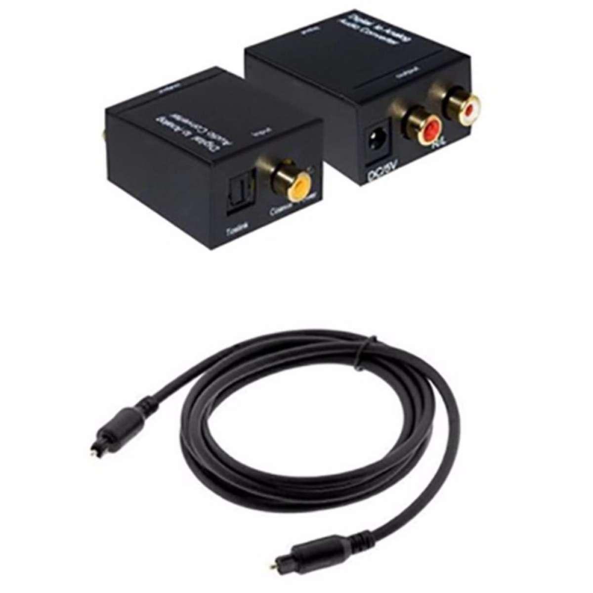 Bộ chuyển đổi tín hiệu Optical To Av tặng kèm dây optical và dây AV
