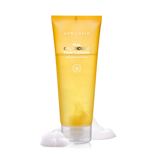 Aprilskin Set full 4 sản phẩm Calendula + cọ rửa mặt Real Cleaning Pore Brush