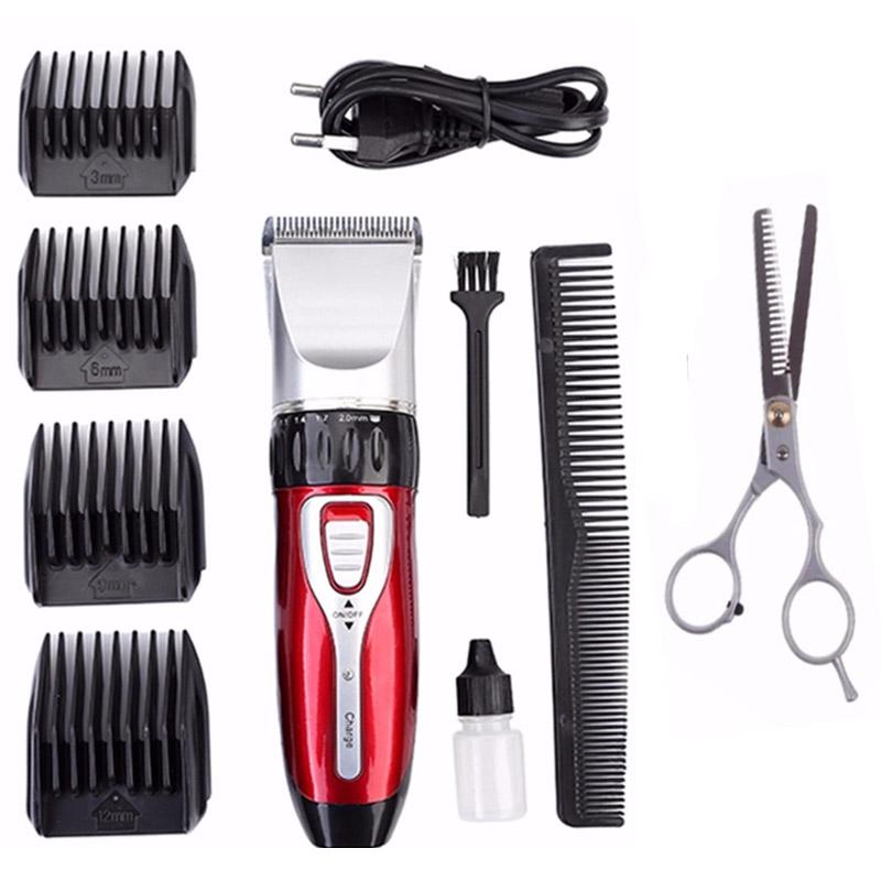 Tông đơ cạo râu, cắt tóc gia đinh cao cấp 0817 tặng kèm 1 chiếc kéo cắt tỉa tóc