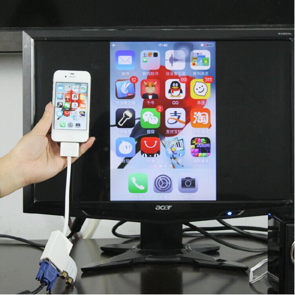 Cáp chuyển đổi cổng kết nối iPad sang VGA Hiển Thị Hình Ảnh Chất Lượng Cao AZONE