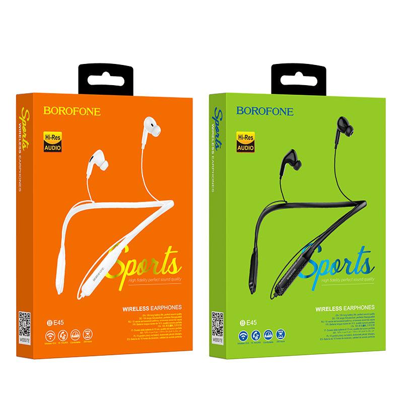 Tai nghe bluetooth thể thao Borofone BE45 Wireless V5.0, pin 10H (Hàng chính hãng)
