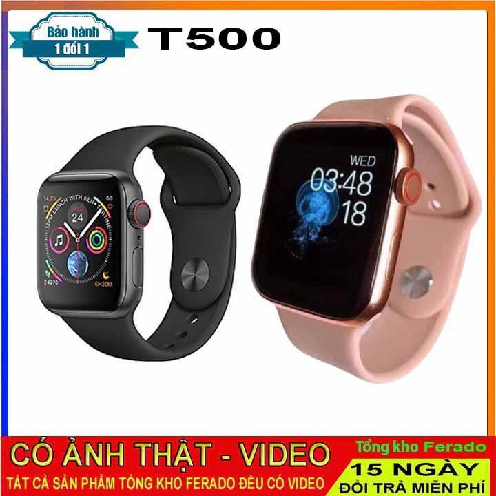 Đồng Hồ Thông Minh T500 Mới nhất 2021 Thay Ảnh Thay Dây kết nối bluetooth 44mm Đo nhịp tim.