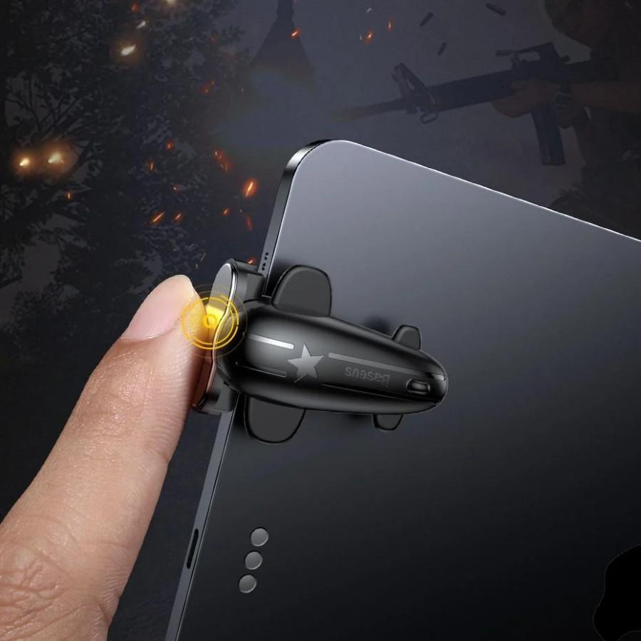Bộ nút bắn chơi game Baseus Shooting Game Tool cho iPad/ Tablet chơi PUBG, Rules of Survival [Hàng Chính Hãng]