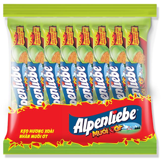 Hình ảnh Kẹo Alpenliebe Hương Xoài Nhân Muối Ớt 16 Thỏi