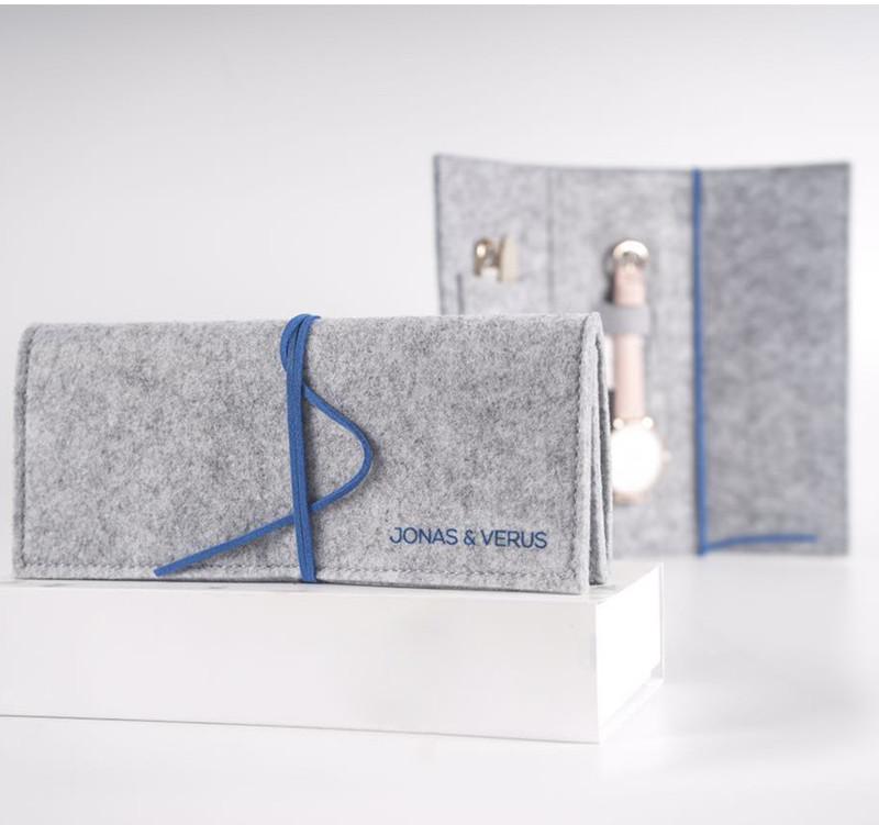 Đồng hồ đeo tay Nữ hiệu JONAS & VERUS X01855-Q3.PPWLH, Máy Pin (Quartz), Kính sapphire chống trầy xước, Dây Da Italy